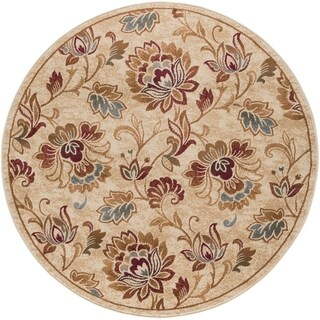 Alise Flora Ivory and Brown Floral Area Rug - 5'3