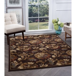 Alise Rugs Flora Transitional Floral Area Rug - 7'10 x 10'3