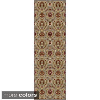 Alise Infinity Blue and Brown Floral Runner (2'3 x 7'3)