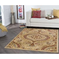Alise Rugs Rhythm Transitional Paisley Area Rug - 5' x 7'