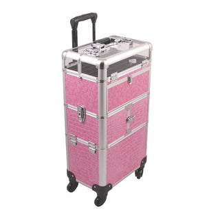 Sunrise Professional Aluminum 2-in-1 Trolley Makeup Case