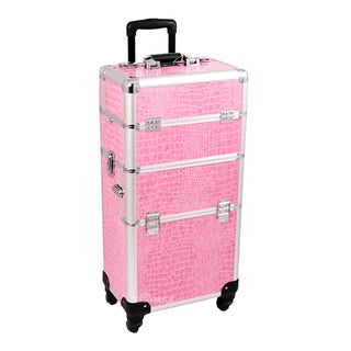 Sunrise Professional Rolling Trolley Makeup Storage Case