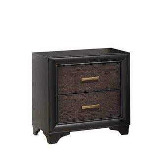 CorLiving BLH-190-N Clear Lake Honey Black/ Warm Brown Nightstand