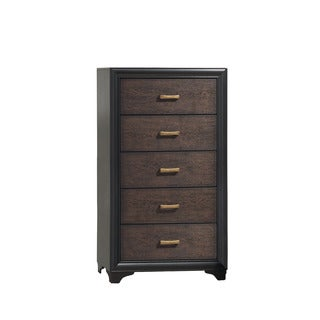 CorLiving BLH-190-T Clear Lake Honey Black/ Warm Brown Chest of Drawers