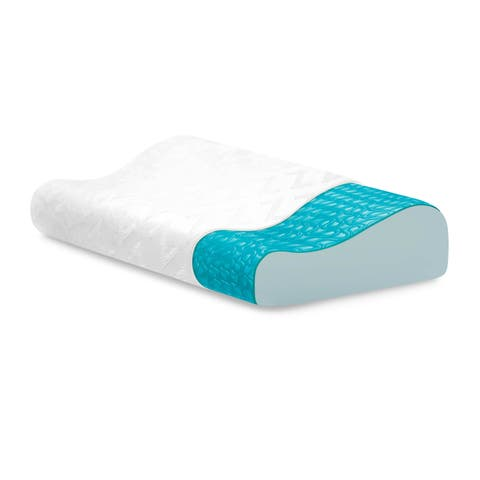 Z Gel Memory Foam Contour Pillow with Liquid Gel Layer