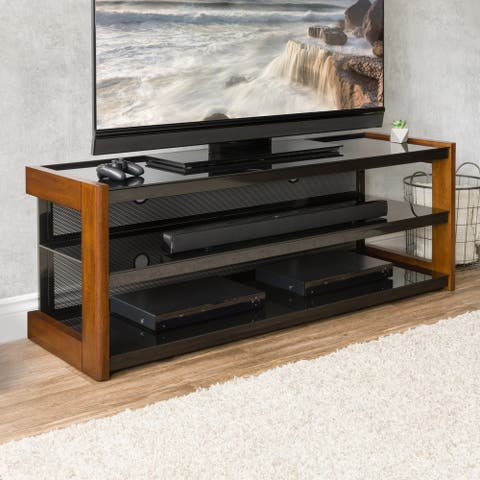 """Sonax TML-150-B Quick-Click Nutmeg Brown TV Bench for TVs up to 70"""""""