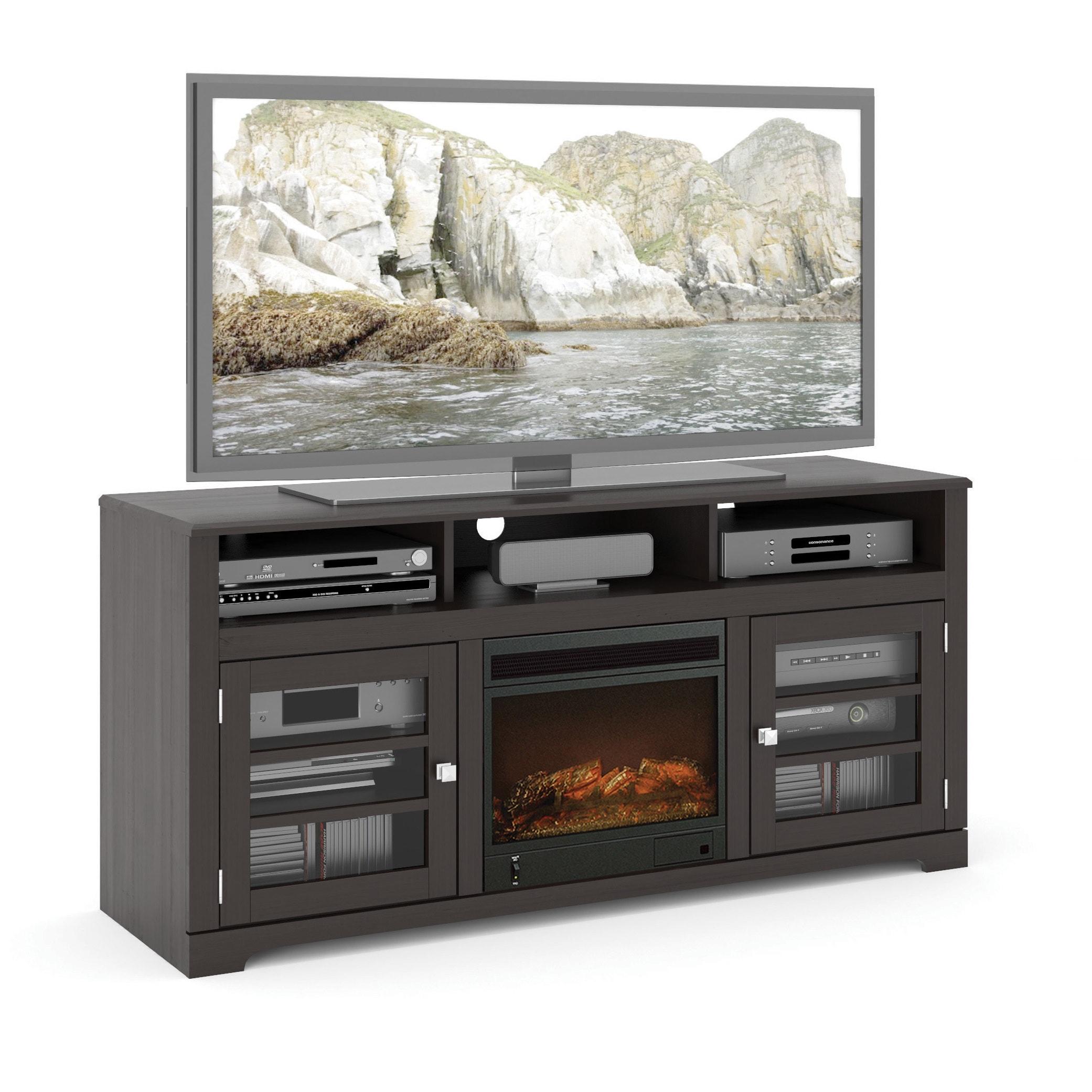 SONAX TWB-206-F West Lake 60-inch Mocha Black Fireplace B...