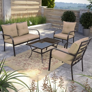 CorLiving 4-piece Patio Conversation Set