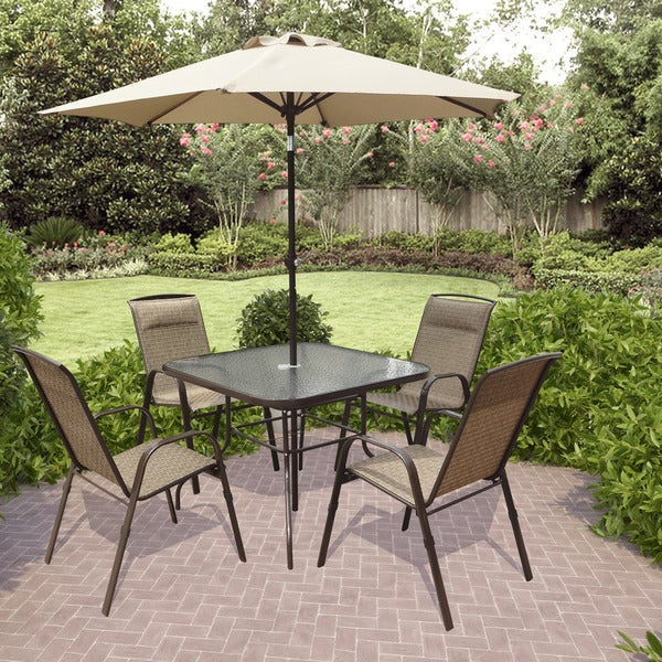 Shop Corliving Pzt 626 S 5 Piece Patio Dining Set With
