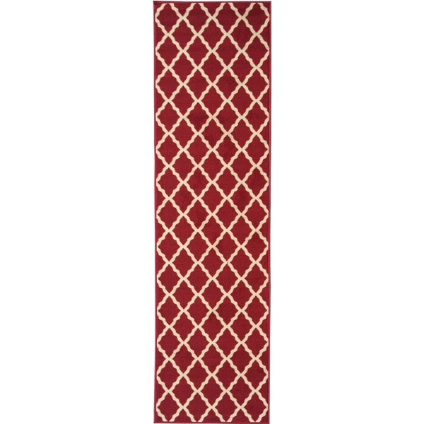 Ottomanson Ottohome Collection Red Color Contemporary
