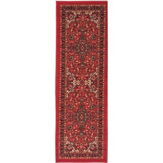Ottomanson Ottohome Persian Heriz Oriental Design Runner Rug with Non-skid Rubber Backing (2' x 7') (2 options available)