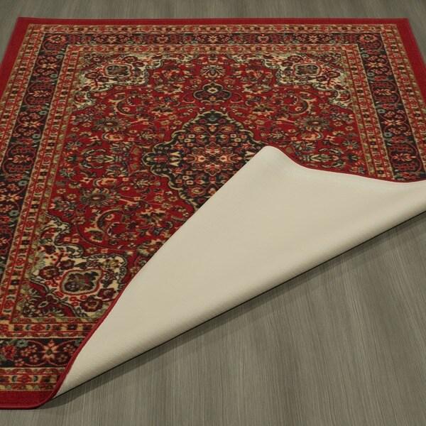 Ottomanson Ottohome Collection Persian Heriz Oriental Design Non Slip Rubber  Backing Area Rug (8u0027 X 10u0027)   Free Shipping Today   Overstock.com   17326298