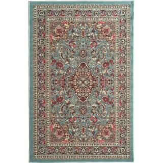 """Ottomanson Ottohome Persian Heriz Oriental Design with Non-Skid Rubber Backing Area Rug (5' x 7') - 5' x 6'6"""" (Option: Sea Foam Green)"""