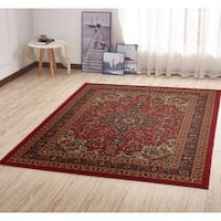 Ottomanson Ottohome Persian Heriz Oriental Design with Non-Skid Rubber Backing Area Rug (5' x 7')