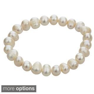 Decadence Elastic Freshwater Pearl Stretch Bracelet (8-9 mm)