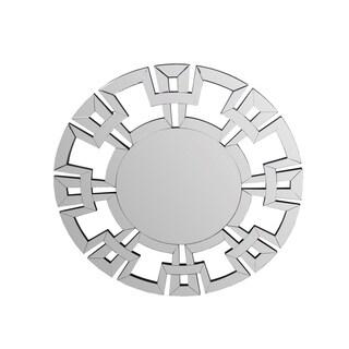 Privilege Aztec Chain Beveled Glass Wooden Accent Mirror