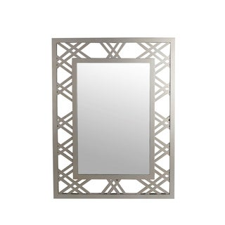 Privilege Silver Beveled Glass Wall Mirror