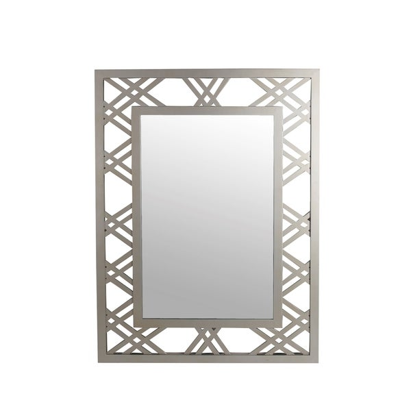 Privilege Silver Beveled Glass Wall Mirror
