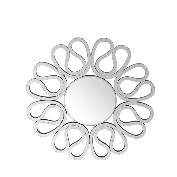 Privilege Flower Beveled Wall Mirror