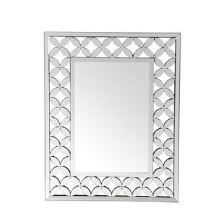 Privilege Geometric Flower Beveled Wall Mirror
