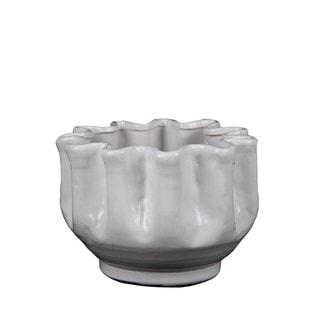 Privilege White Small Ceramic Pot