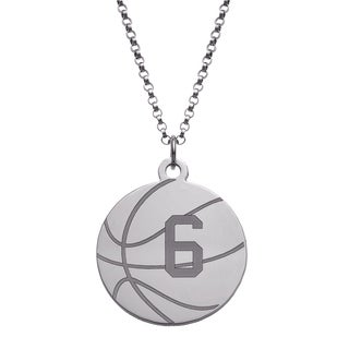 Sterling Silver Personalized Basketball Disc Necklace