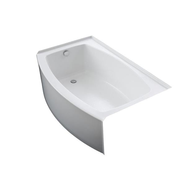shop kohler expanse 5 foot left drain acrylic bathtub 89109