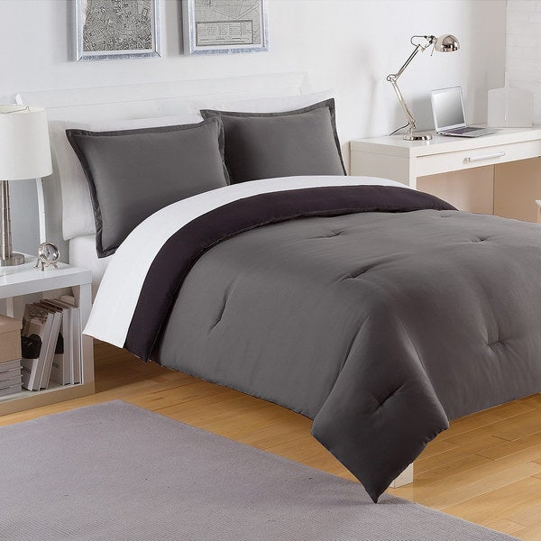 IZOD Solid Reversible 3-piece Comforter Set
