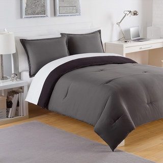 IZOD Solid Reversible 3-piece Comforter Set