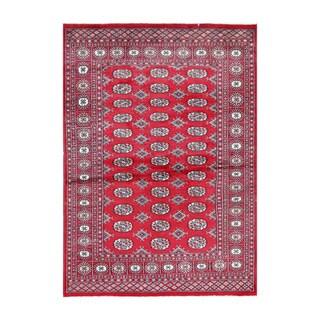 Herat Oriental Pakistani Hand-knotted Bokhara Wool Rug (4' x 5'8)