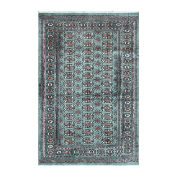 Shop Herat Oriental Pakistani Hand-knotted Bokhara Teal