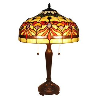 Amora Lighting Tiffany Style Tloral Table Lamp 24 In