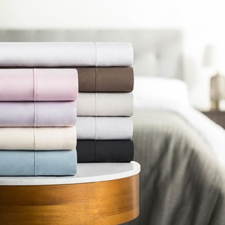 Malouf Wrinkle-Resistant Extra Deep Pocket Double Brushed Microfiber Bed Sheet Set