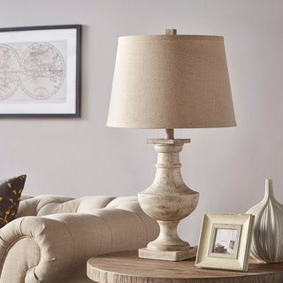 Hyperion Textured Off White 1 Light Accent Table Lamp By INSPIRE Q Artisan