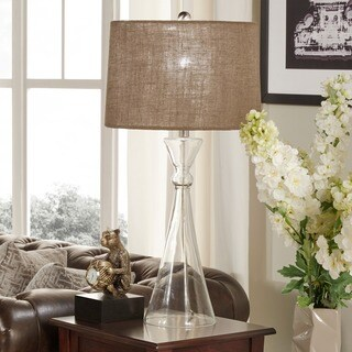 Ingram Clear Glass 1-light Accent Table Lamp by iNSPIRE Q Modern