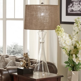 Ingram Clear Glass 1 Light Accent Table Lamp By INSPIRE Q Modern