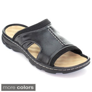 Rocus Jf5-43 Men's Slip On Cut-Out Side Outdoor Sandals