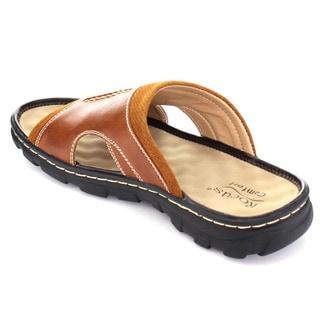 Rocus Jf5-43 Men's Slip On Cut-Out Side Outdoor Sandals