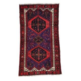 Hand-knotted Semi Antique Persian Hamadan Oriental Rug (3'9 x 6'9)