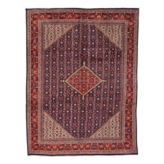 Hand-knotted Persian Mahal Full Pile Exc Cond Oriental Rug (9'5 x 12')