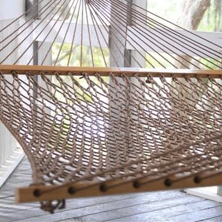 Antique Brown Presidential Size Original DuraCord Rope Hammock (Stand Not Included)