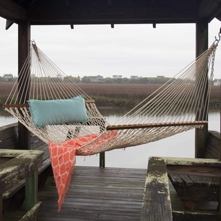 Oatmeal Large DuraCord Rope Hammock (Stand Not Included)