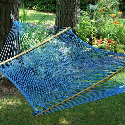 Large Original DuraCord Rope Hammock - Coastal Blue
