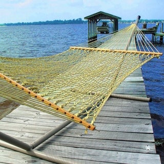Tan Large DuraCord Rope Hammock (Stand Not Included)
