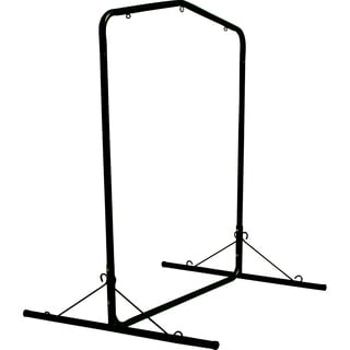 Black Steel Hammock Swing Stand