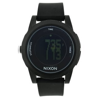 Nixon Men's A326-000 'Genie' Black Silicone Watch