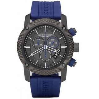 Burberry Men's BU7714 'Endurance' Chronograph Blue Rubber Watch