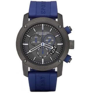 Burberry Men's BU7714 'Endurance' Chronograph Blue Rubber Watch|https://ak1.ostkcdn.com/images/products/10203106/P17326780.jpg?impolicy=medium