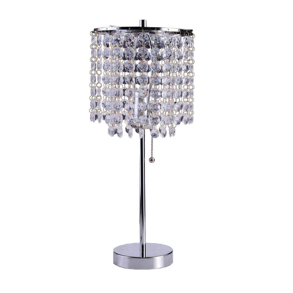 Art Deco Glam Dangling Crystal Table Lamp