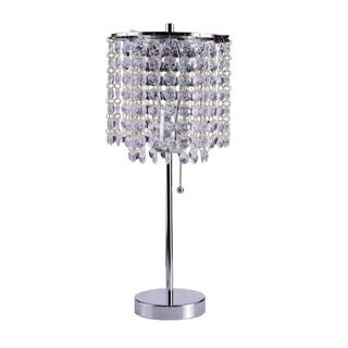 Art Deco Glam Dangling Crystal Table Lamp